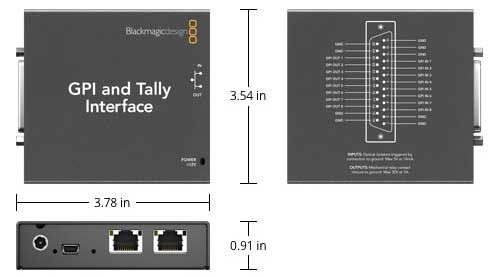 Tally and GPI Interface