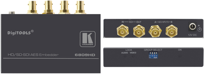 Video Production & Editing Audio For Video Kramer 6809 Sdi Aes Embedder Digitools
